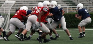 Saucier leads first team offense in impressive first spring game. - Photo by Doug Roberts: http://dougstech.com/