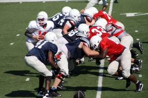 South Alabama Jaguars second scrimmage of the spring. Photo by Doug Roberts - http://dougstech.com/
