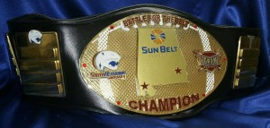 """South Alabama and Troy will play for the """"Battle for the Belt"""" trophy on Saturday. 