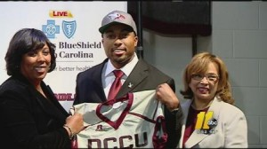 Wide Receivers coach Jerry Mack was named the head football coach at North Carolina Central University. | WTVD-TV http://abclocal.go.com/wtvd