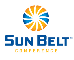 The new primary logo for the Sun Belt Conference beginning on July 1, 2013.