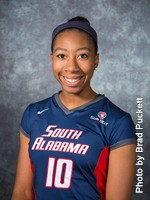Jessica Lewis earned her second Freshman of the Week honor this season. Photo by Brad Puckett | usajaguars.com