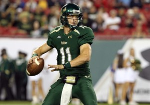 Matt Floyd as a South Florida Bull against the Pittsburgh Panthers at Raymond James Stadium on December 1, 2012. | Photo credit: Kim Klement-USA Today Sports