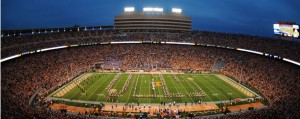 Wide angle lense view of Neyland Stadium | Photo credit utsports.com